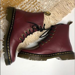 Women's Cherry Red Dr. Martens Boots